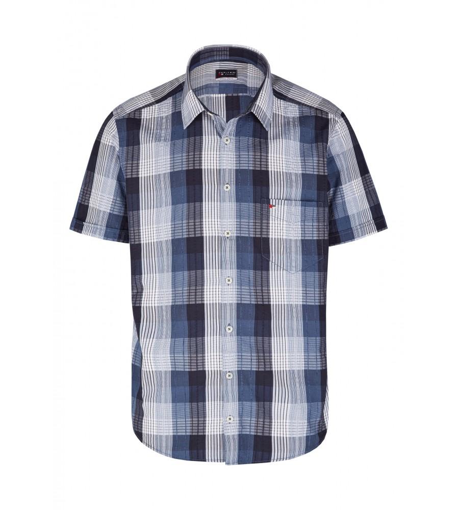 Modernes Hemd im Karo-Look Kurzarm JC90005-52111-158 front