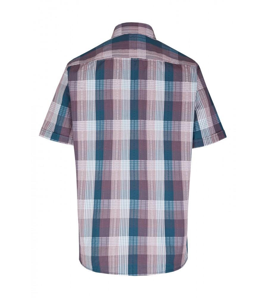 Modernes Hemd im Karo-Look Kurzarm JC90005-52111-357 back