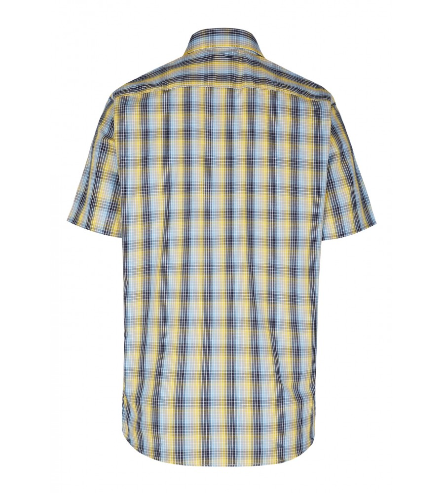Modernes Hemd im Karo-Look Kurzarm JC90009-52111-554 back
