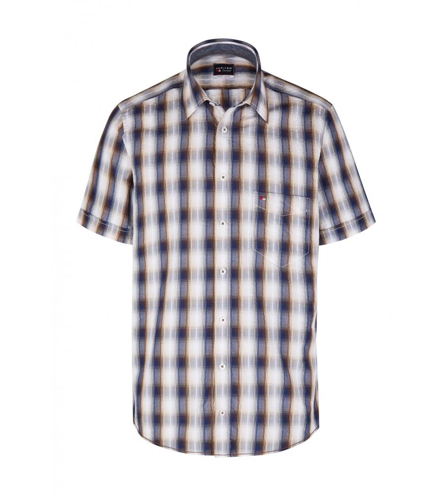 Modernes Hemd im Karo-Look Kurzarm JC94002-52111-256 front