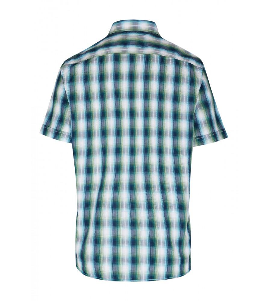 Modernes Hemd im Karo-Look Kurzarm JC94002-52111-455 back