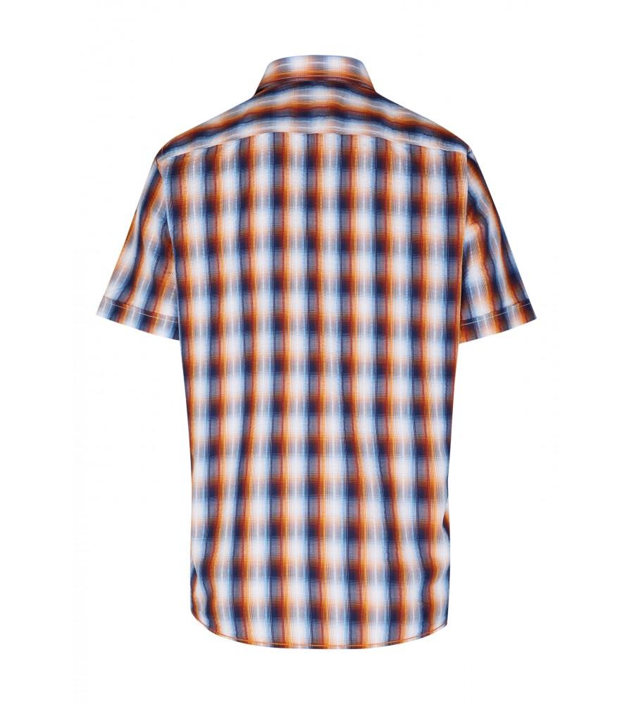 Modernes Hemd im Karo-Look Kurzarm JC94002-52111-653 back