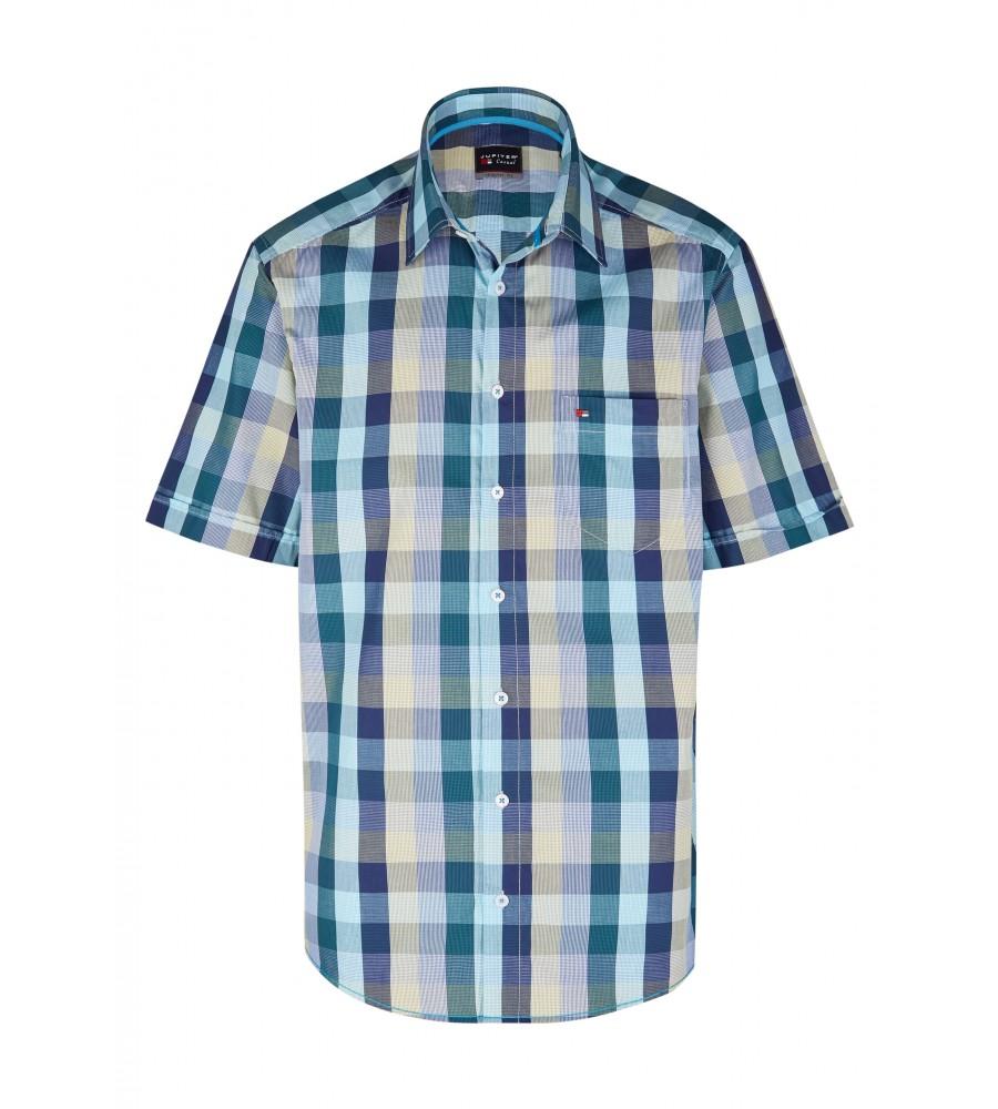 Modernes Hemd im Karo-Look Kurzarm JC94003-12111-453 front