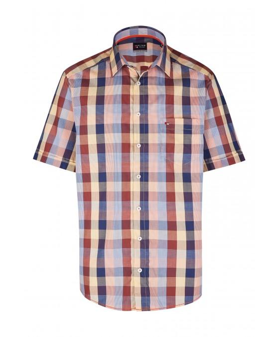 Modernes Hemd im Karo-Look Kurzarm JC94003-12111-653 front