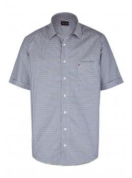 Modernes Hemd im Karo-Look Kurzarm