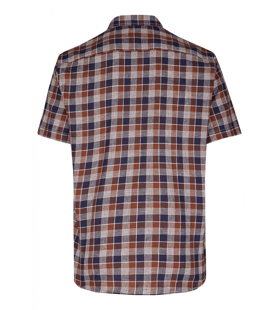 Modernes Hemd im Karo-Look Kurzarm JC94005-52111-256 back