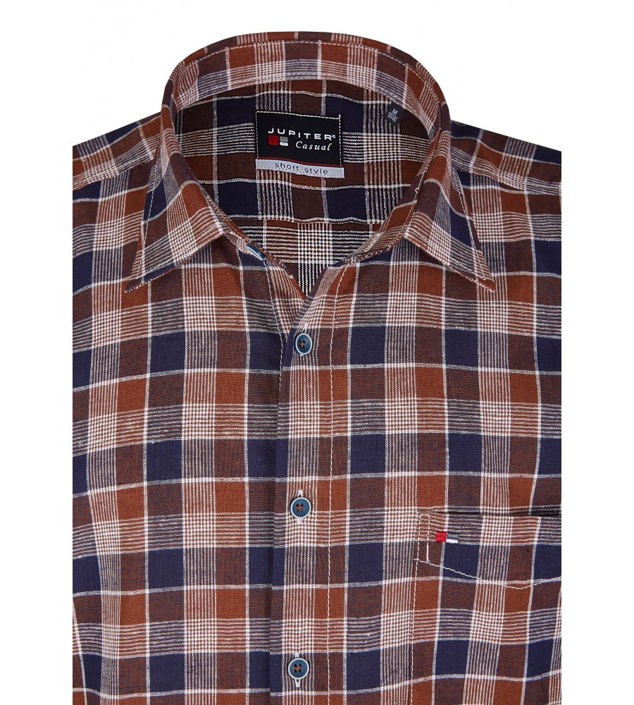 Modernes Hemd im Karo-Look Kurzarm JC94005-52111-256 detail1