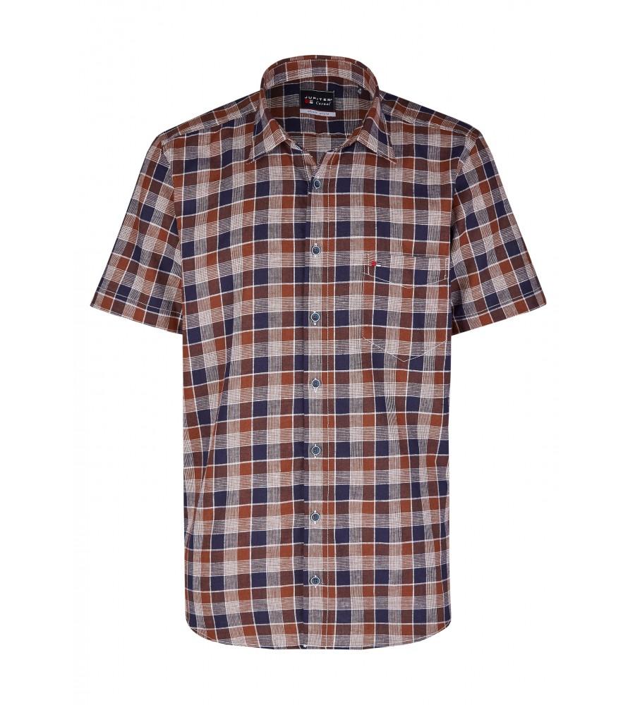 Modernes Hemd im Karo-Look Kurzarm JC94005-52111-256 front