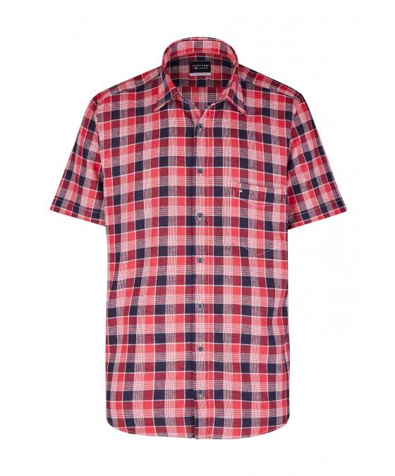 Modernes Hemd im Karo-Look Kurzarm JC94005-52111-355 front
